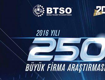 """""""Bursa İlk 250 Büyük Firma Araştırması"""" açıklandı"""